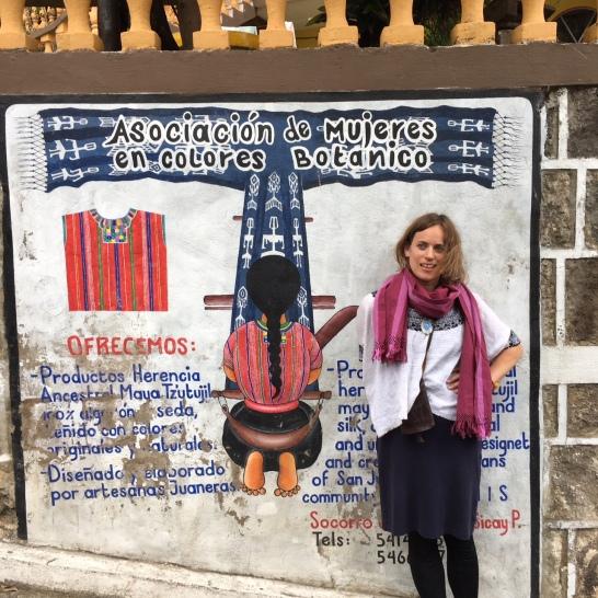 A beautiful mural representign the incredible and strong weavers and artists in San Juan La Laguna