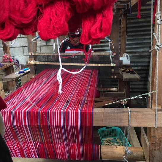 Footloom weaving, traditionally done by men but soem communities are beginning to branch out
